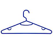 Honey-Can-Do Blue 60-Pack Plastic Tubular Plastic Hanger - H356694