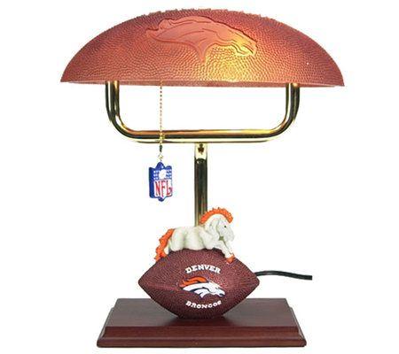 Nfl Denver Broncos 14 Quot Desk Lamp Qvc Com