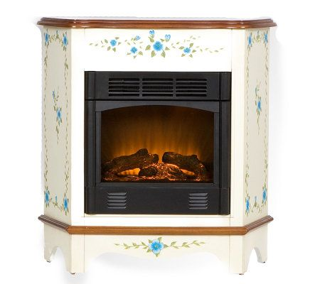 Rivercrest Handpainted Electric Fireplace — QVC