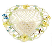 Belleek Butterfly Heart Basket - H201995