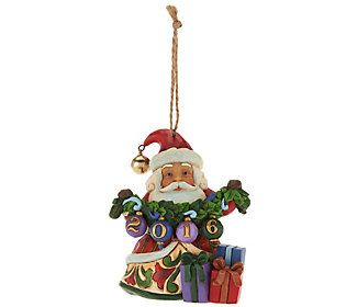 Jim Shore Heartwood Creek Exclusive Dated 2016 Santa Ornament