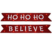 Kringle Express Set of 2 Illuminated 3 Holiday Banners - H209395