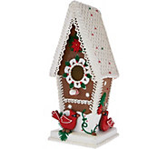 As Is Illuminated Gingerbread Birdhouse by Valerie - H210495