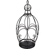 Indoor/Outdoor Metal Centerpiece with Finial by Valerie - H210695