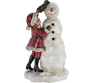 Child Decorating Snowman by Valerie - H211595