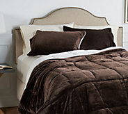 Berkshire Queen Velvet Soft Reverse to Sherpa Comforter Set - H212295