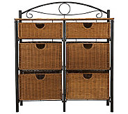 Andrews Iron and Wicker Storage Chest - H280695