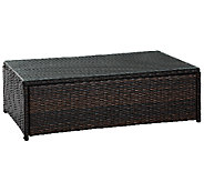 Crosley Palm Harbor Outdoor Wicker Glass Top Table - H282895