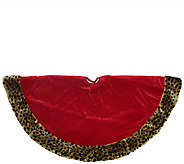 48 Plush Animal Print Border Velvet Tree Skirt by Northlight - H286895