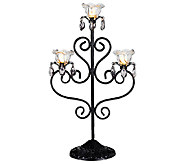 Exhart Indoor/Outdoor LED Triple Flame Candelabra - H287495