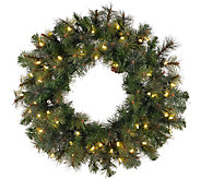 42 Prelit Modesto Pine Wreath w/ LED Lights byVickerman - H287695