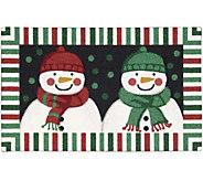 Nourison Enhance 18 x 30 Christmas Double Snowman Rug - H293095