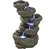 Design Toscano Breakneck Falls Illuminated Garden Fountain - H293795