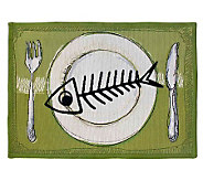 Meow Meal 19 x 13 Tapestry Rug - H349295