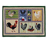 Roosters and Chickens 19x27 Tapestry Rug - H349395