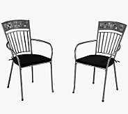 Home Styles Outdoor Set of 2 Glen Rock Dining Chair w Cushion - H367895