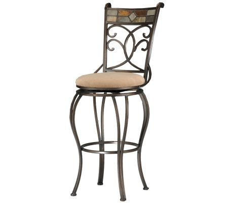 Hillsdale Furniture Pompei Swivel Bar Stool Page 1 Qvc Com