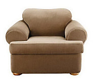 Sure Fit Stretch Stripe 2-Piece T-Cushion ChairSlipcover - H180596