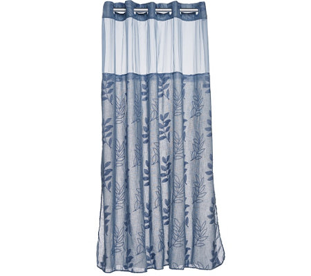 Hookless Palm Leaves Linen 3 In 1 Shower Curtain H205596