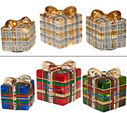 3-piece Illuminated Plaid Collection by Valerie - H205796