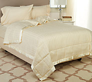 Northern Nights 350TC Cotton Damask Stripe ComforLoft Down Alt. Blanket QN - H206096