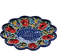 Lidias Polish Pottery Stoneware Egg Plate - H208596