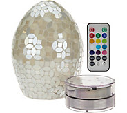 Mosaic Pearl Egg with Multi-Function Light by Valerie - H210696