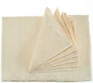 Lenox Laurel Leaf 70x86 Water Repel Table Cloth w/ 6 Napkins - H210996