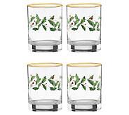 Lenox Holiday Set of 4 Glass Tumblers - H284496