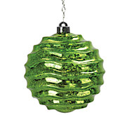 Exhart Solar Medium Wave Orb Ornament - H285596