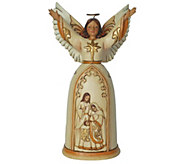 Jim Shore Heartwood Creek Ivory and Gold Nativity Angel - H290196