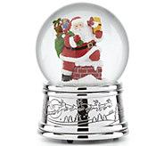 Reed & Barton Rooftop Santa Musical Snow Globe - H295096