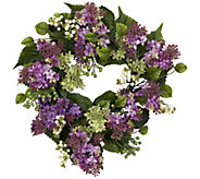 20 Hanel Lilac Wreath by Nearly Natural - H295596