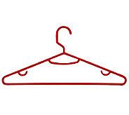Honey-Can-Do Red 60-Pack Plastic Tubular Plastic Hanger - H356696