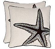 Set of 2 18 x 18 Lucky Star Pillows from Safavieh - H365796