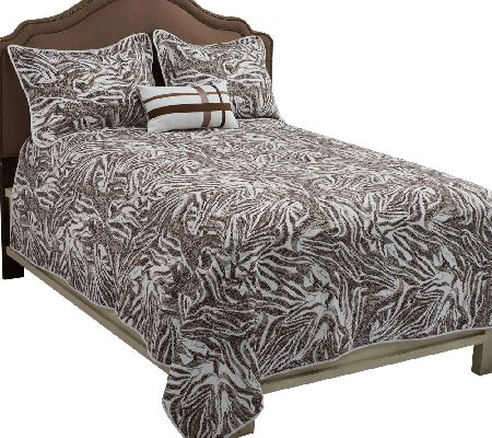 Dennis Basso Zebra 4-piece Coverlet and Pillow Set