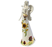14 Porcelain Harvest Angel with Flameless Candle by Home Reflections - H203097