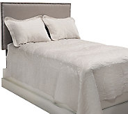 Dennis Basso King Matte Satin Coverlet and Shams Set - H203397