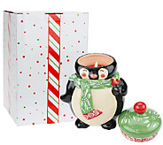 As Is Temp-tations 23 oz. Ceramic Holiday Figural Candle - H204497