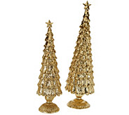 2-Piece Unlit 13 and 16 Elegant Sparkling Trees - H206397