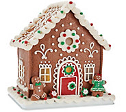 As Is 9 Illuminated Gingerbread House by Valerie - H207497