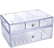 As Is Set of 2 Clear Stacking Cosmetic Organizers - H208297