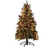 Hallmark 5 Fallen Snow Christmas Tree with Quick Set Technology - H208797