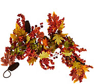 4 Leaves, Berry and Hydrangea Garland - H209397