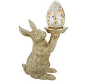Home Reflections 19.5 Bunny Holding Mosaic Egg Luminary - H213597