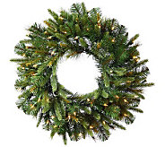 36 Cashmere Pine Wreath with Dura-Lit Lights by Vickerman - H281897