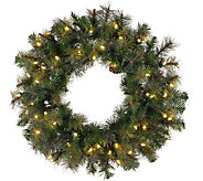 48 Prelit Modesto Mixed Pine Wreath by Vickerman - H287697