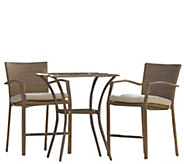 Cosco Lakewood Ranch 3-Piece Steel Woven Balcony Bistro Set - H289097