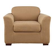 Sure Fit Modern Chevron Chair 2-Piece Slip Cover - H289197