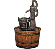 Design Toscano Cistern Well Pump Barrel GardenFountain - H293797